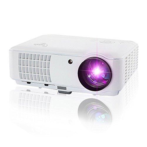 Taotaole Multimedia HD 720p 2600 LumensLCD LED Video Projectors Home Theater Projector Native 1280x800 with HDMI/USB/AV/VGA