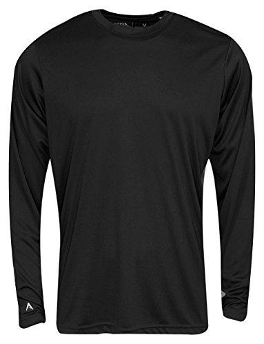 - Antigua Long Sleeve Ace T-Shirt Black Size Medium