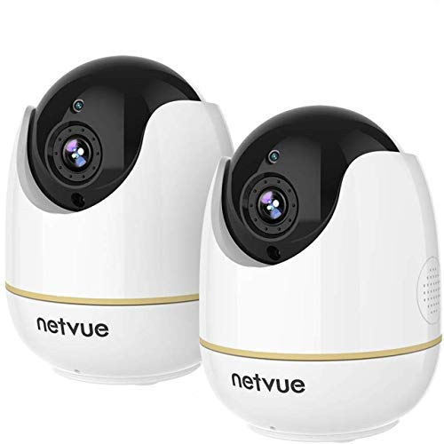 Dog Camera - 1080P Pet Camera with Phone App, Pan/Tilt/Zoom Home Camera with 2-Way Audio, AI Human Detection, Night Vision, Cloud Storage/TF Card, Compatible with Alexa, Camera for Pets/Baby (2 Pack)