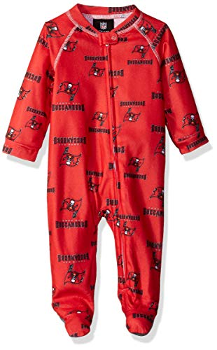 Outerstuff NFL Tampa Bay Buccaneers Newborn & Infant Raglan Zip Up Coverall Red, 6-9 Months