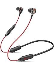 Linklike Quad-Dynamic Treiber Bluetooth 5,0 Sport Kopfhörer, HiFi Sound 16 Std Laufzeit IPX7 Wasserdicht Magnetisches Headphone mit Noise Cancelling MEMS Mikrofon, Ultraleicht Ohrhörer für Joggen