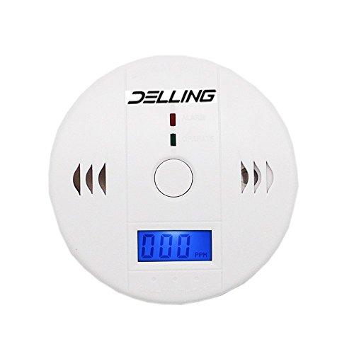 Delling RR-18-1-16-10 Carbon Monoxide Gas Detection,  Digital LCD Display Carbon Monoxide Alarm, Electronic Equipment, Power Detection Equipment, Alarm Clock Warning, White