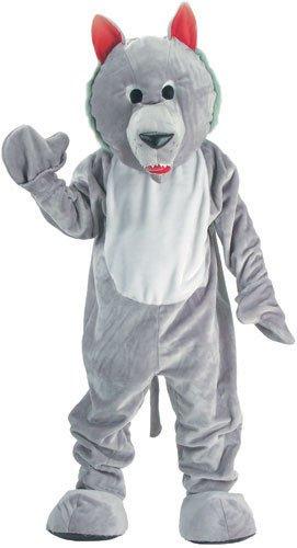 Hungry Wolf Mascot Costume Set - kids size Large (12-14)]()
