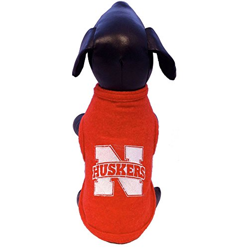 NCAA Nebraska Cornhuskers Polar Fleece Dog Sweatshirt, Medium