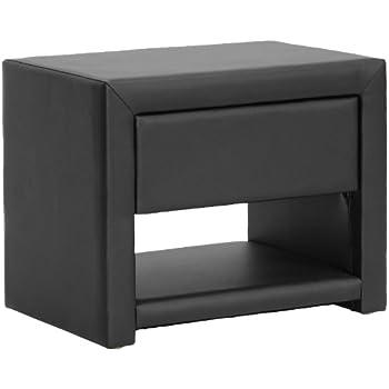Amazon Baxton Studio Massey Upholstered Modern Nightstand