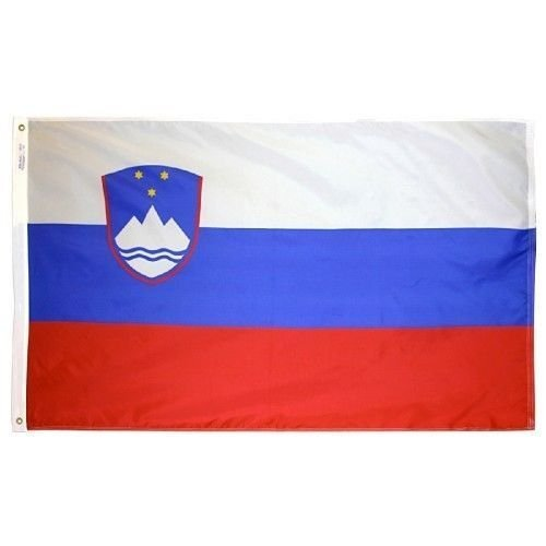 ALBATROS 3 ft x 5 ft Slovenia Ljuljana National Pueblo Cleveland Flag Banner Brass Grommets for Home and Parades, Official Party, All Weather Indoors Outdoors]()