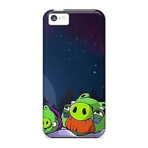 Cute High Quality Iphone 5c Green Pigs's Winter Season Hd Case