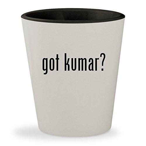got kumar? - White Outer & Black Inner Ceramic 1.5oz Shot Glass (Christmas Satish Songs Kumar)