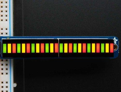 Led Bar Graph - Adafruit Bi-Color (Red/Green) 24-Bar Bargraph w/I2C Backpack Kit