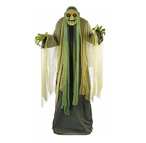 Life Size Halloween Figures (Halloween Yard Decor 72 in. Animated Swamp-Witch With LED Illuminated Eyes Outdoor Animatronic Lights Sounds)