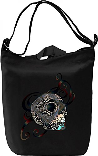 Graphic Skull Borsa Giornaliera Canvas Canvas Day Bag| 100% Premium Cotton Canvas| DTG Printing|