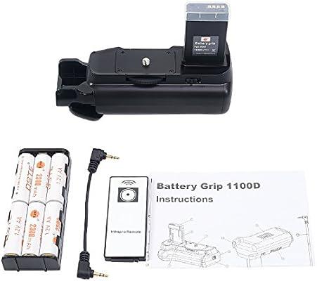 DSTE® Remoto empuñadura de batería Compatible con Canon EOS 1100d ...