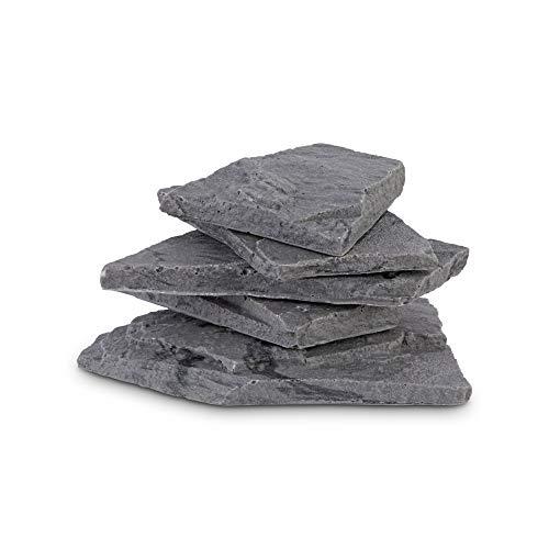 Imagitarium Black Marbled Resin Stone Stack, X-Large - Resin Stack