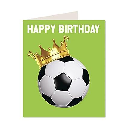 Feliz cumpleaños al fútbol moderno brillante y diseño de la ...