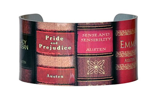 Neurons Not Included Jane Austen Wide Cuff - Jane Austen Books Aluminum Bracelet