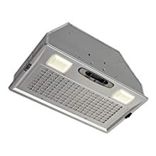 Broan-NuTone PM390 Power Pack Range Hood Insert Exhaust Fan and Light Combo for Over Kitchen Stove, 390 CFM, Aluminum