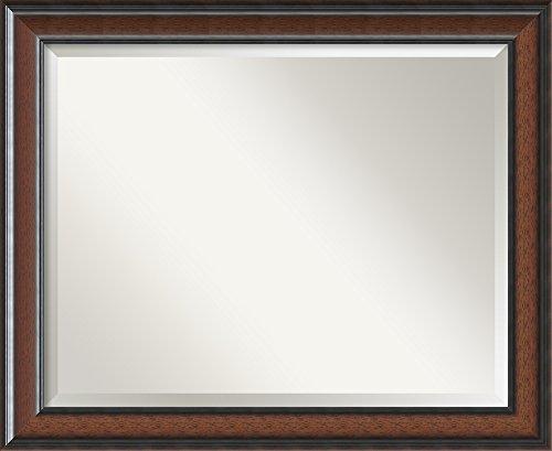 (Framed Mirrors for Wall   Cyprus Walnut Mirror for Wall   Solid Wood Wall Mirrors   Medium Wall Mirror 32.88 x 26.88