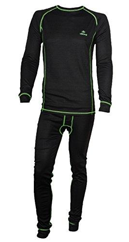 e5f439690de980 Viking Herren Set Funktionsunterwäsche Ryan Thermoaktiv Atmungsaktiv  Skiunterwäsche - Ski - Snowboard - Langlauf grün Gr