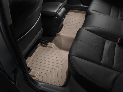 (WeatherTech Custom Fit Rear FloorLiner for Cadillac SRX, Tan)