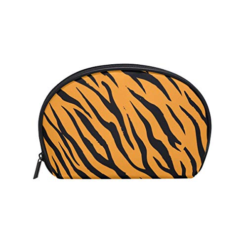 Women's Travel Tiger Stripes Print Cosmetic Bags Portable Makeup Clutch Pouch Small Cosmetic Bag and Toiletries Organizer Bag -