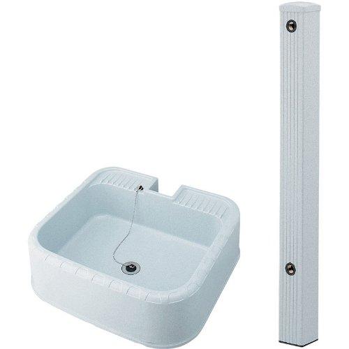 KAKUDAI/カクダイ 624-071(水栓柱80角) + 624-925(水栓柱パン) セット B00CZ54RKC 14510