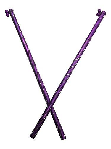 Aluminuim Dandiya, Sticks Pair of 2 with Dark Purple Color ,Navratri Celebrations ,Decorative Dandiy, Stick for Dandiya,Gift for Navratri Festival by IndiaBigShop