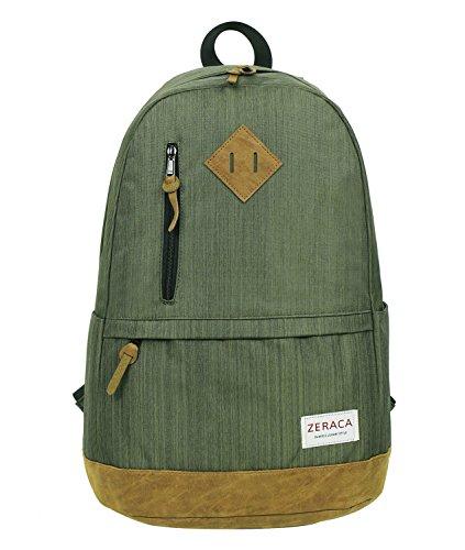 Unisex Fashion Casual School Travel Laptop Backpack Rucksack Daypack Tablet Bags (Orange) - 9