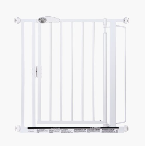 Supergate Auto-Close Gate, White, Fits Spaces between 29.5' to 38.75' wide and 30' High