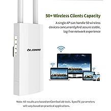 YMNL Alta Potencia al Aire Libre WiFi Ap WiFi Repetidor 2.4G 300Mbps Router WiFi inalámbrico Punto de Acceso a Antenas Dobles Extensor de WiFi