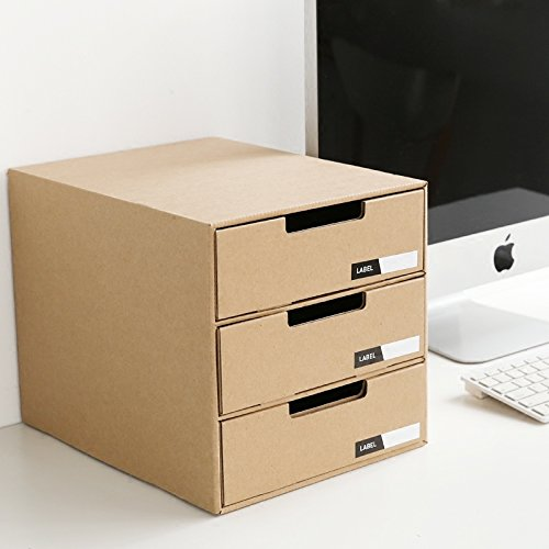 Wonderful Home Office A4 Filing Cabinet 3 Drawer Storage Organiser Desktop  OZ07