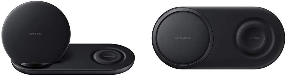 US Version Black Samsung Wireless Charger DUO Fast Charge Stand /& Pad Universally Compatible with Qi Enabled Phones and Select Samsung Watches