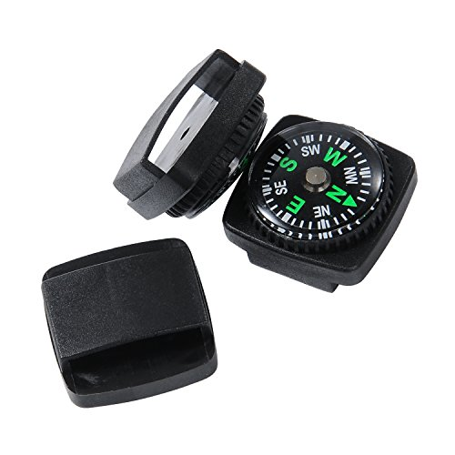 Techion 10 Pack Liquid Filled Compass for Emergency Survival Kits / Watchband / Paracord Bracelets and Keychain