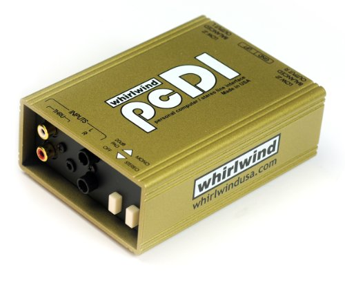 Whirlwind pcDI Direct Box for Interfacing Outputs CD Players, Sound Cards, iPod  MP3 Players