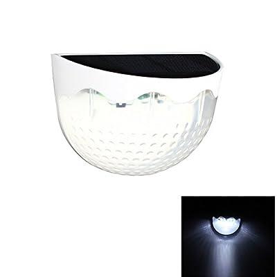 Set of 4 Solar Fence Lights, Garden Decorative LED Light, Waterproof Outdoor Wireless Sensor Fence Lamp for Yard Lawn Patio Pathway
