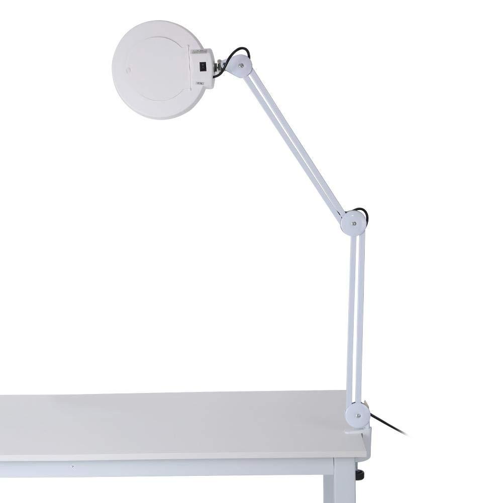 et la Beaut/é M/édicale 8X LED Loupe Lampe 8 Fois Illumin/é LED Loupe Lampe avec Bras Pivotant /à Pince pour le Bureau la Lecture