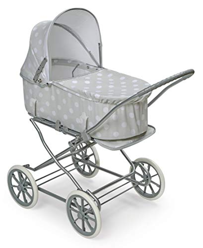 Badger Basket Just Like Mommy 3-in-1 Doll Pram/Carrier/Stroller (fits American Girl Dolls), Gray/White
