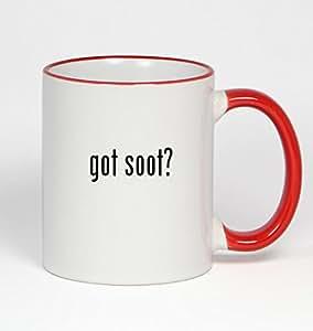 got soot? - 11oz Red Handle Coffee Mug