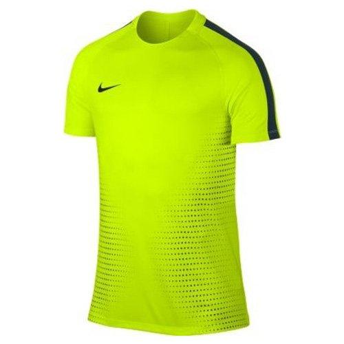Nike M Nk Dry Top Ss Sqd Cr7 - Top de manga corta para hombre volt amarillo / alga / volt amarillo