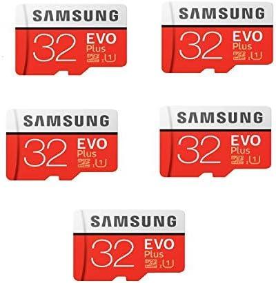 [해외]MicroSD EVO Plus Series Micro SDHC Memory CardAdapter 내장형 7.1channels PCI / 32GB Evo Plus Class 10 Micro SDHCAdapter 80MBS (MB-MC32GA) Pack of 5