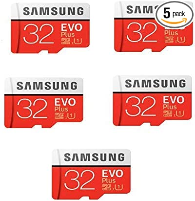 Samsung 32GB Evo Plus Class 10 Micro SDHC with Adapter 80MB/S (MB-MC32GA) Pack of 5