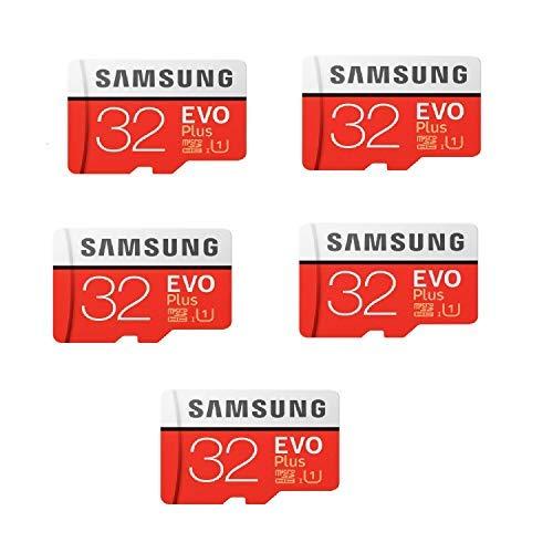 Samsung 32GB Evo Plus Class 10 Micro SDHC with Adapter 80MB/S (MB-MC32GA) Pack of 5 (Samsung Micro Sd Card 8gb Class 10)