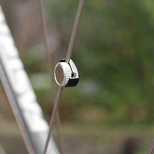 Magnete Ruota Portatile Universale per Bici da Computer con Razze Magnete Compatto Accessori per contachilometri per Biciclette Nero e Argento