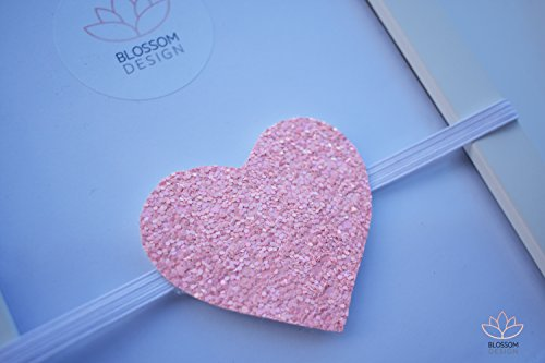 Pink Glitter Headband, Pink Valentines Headband, Valentine Baby Headband, Pink Heart Headband, Glitter Heart Headband, Valentine