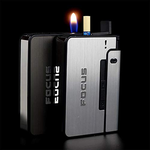Metal Cigarette Case 10pcs Capacity Can Cigarette Box for Men Smoking Nice Gift, Silver, Black, Gold, Copper.