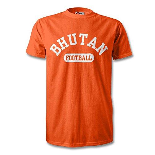 Bhután camiseta de fútbol, color naranja y blanco