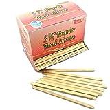 Gmark Disposable Wooden Coffee Stir Sticks Stirrers Wood Tea Beverage Stir Stick Stirrer, 5.5 Inch Round Edge and Thick, 500 Pcs/Box GM1010