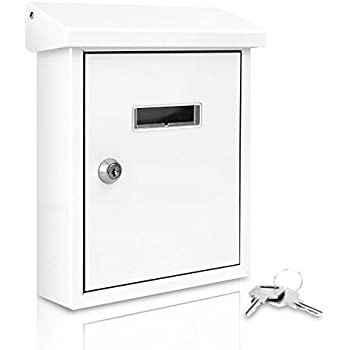 Serenelife Modern Wall Mount Lockable Mailbox - Outdoor Galvanized Metal Key Large Capacity - Commercial Rural  sc 1 st  Amazon.com & Epoch Design Locking Drop Box Wall Mounted Mailbox Bronze ... Aboutintivar.Com