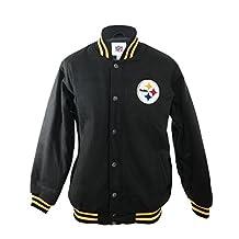 NFL Pittsburgh Steelers Winter Wool Jacket - Black - Officially Licensed