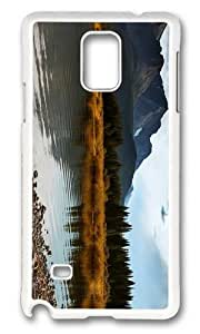 MOKSHOP Adorable lake alberta canada Hard Case Protective Shell Cell Phone Cover For Samsung Galaxy Note 4 - PC White by icecream design