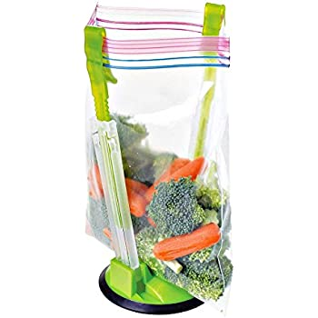 Clip Food Storage Bag On Holder For Easy Transfer Of Foods U0026 Liquids.  Adjustable Arms Fit Most Bags. Hang Baggies For Simple Drying Solution.